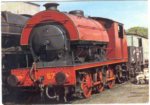 "Järnväg, lok, 0-6-0 ST No. 57 ""Samson"" byggd 1950 av Robert Stepehenson and Hawthorns of Newcastle Upon Tyne"