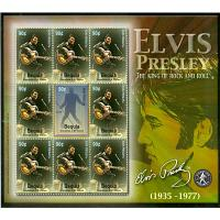 Bequia Grenadines of St. Vincent - M  373-374 Elvis Presley, miniark kpl **