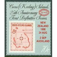Cocos Islands - M  232 Int. Frim.utst. NEW ZEELAND 90, 1 kpl **