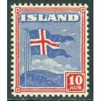 Island - F  244 Islands flagga, 10 aur *