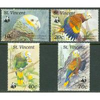 St. Vincent - M 1222-1225 WWF - Saintvincentamazon, 4 kpl **