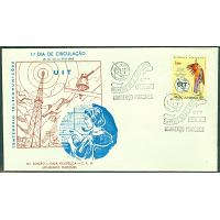 Mocambique - FDC 1965-05-17 Internationella Teleunionen ITU (UIT) 100 år