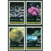Cocos Islands - M  286-289 Koraller, 4 kpl **