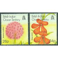 British Indian Ocean Ter. - M  271-272 Inhemsk flora, 2 kpl **