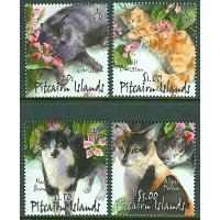 Pitcairn Islands - M  609-612 Katter, 4 kpl **
