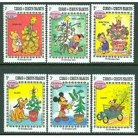 Turks & Caicos Islands - M  648-653 Disneys jul 1983, 6 ol **