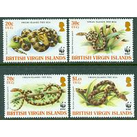 British Virgin Islands - M 1137-1140 Naturskydd, Mona-Jungfruöarnaboa, 4 kpl **