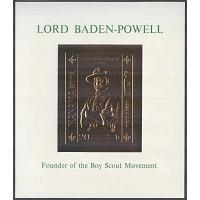 Manama - M BL  56 Scouting - Lord Baden-Powell - Guldtryck, Block **