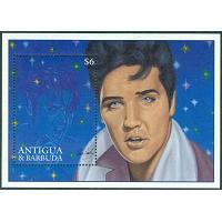 Antigua & Barbuda - M BL 333 Elvis Presleys födelse 60 år, block **