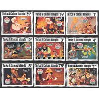 Turks & Caicos Islands - M  503-511 Disney - Pinocchio, 9 kpl **