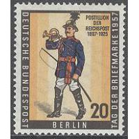 Berlin - M  176 Frimärkets Dag 1957 - Brevbärare  - Uniform, 1 kpl **