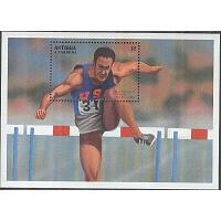 Antigua & Barbuda - M BL 342 OS i Atlanta 1996 Medaljör Bill Toomey, Block **
