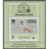 Cayman Islands - M BL  17 OS i Seoul 1988 Tennis, Block **