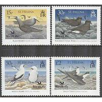 St. Helena - M 1009-1012 Havsfåglar bla Svart noddy - BirdLife International, 4 kpl **