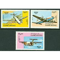 Guinea-Bissau - M  754-756 Flyg - Internationellt Civilt Flyg 75 år, 3 kpl **