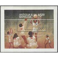 Antigua & Barbuda - M BL  74 OS i Los Angeles 1984 Vollyboll, Block **