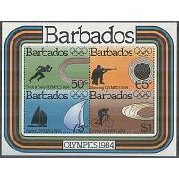 Barbados - M BL  17 OS i Los Angeles 1984 bla Skytte, Block **