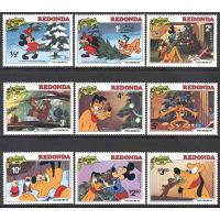 Redonda - M   81-89 Disney, Plutos jul 1981, 9 kpl**