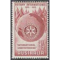 Australien - M  251 Rotary International 50 år, 1 kpl **