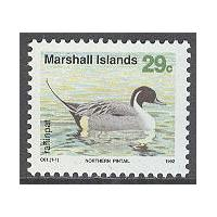 Marshall Islands - M  408 Naturskydd, stjärtand. 1 kpl **